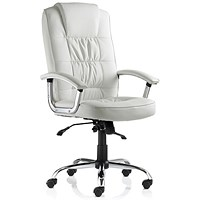 Moore Leather Deluxe Executive Chair - White