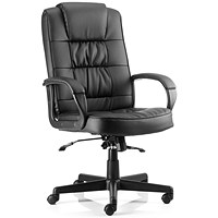 Moore Leather Executive Chair, Black
