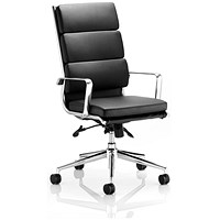 Savoy Leather Executive Chair, Black, Built
