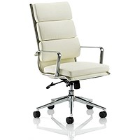 Savoy Leather Executive Chair - Ivory