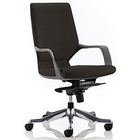 Xenon Leather Executive Medium Back Chair, Black, Built