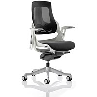Zure Executive Mesh Chair, Charcoal, Built