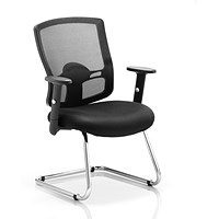 Portland Visitor Chair, Black, Assembled
