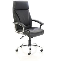 Penza Leather Executive Chair - Black