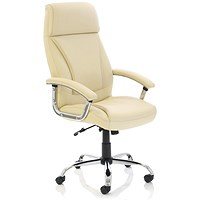 Penza Leather Executive Chair - Cream