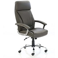 Penza Leather Executive Chair - Brown