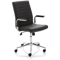 Ezra Leather Executive Chair - Black