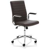 Ezra Leather Executive Chair - Brown