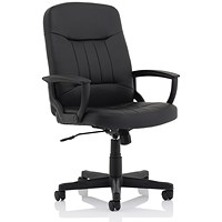 County Leather High Back Managers Chair - Black