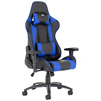 Ascari Racing Blue and Black Leather Chair