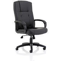 Sussex Managers Leather Chair - Black