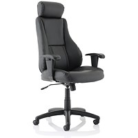 Hampshire Plus Managers Leather Chair - Black