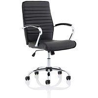 Abbey Executive Leather Chair - Black