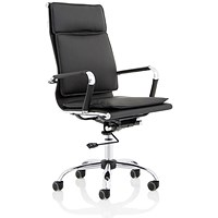 Apollo High Back Leather Chair - Black