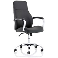Ohio High Back Leather Chair - Black