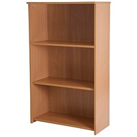 Basix Medium Bookcase - Beech