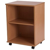 Retro Low Bookcase - Beech