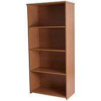 Retro Medium Tall Bookcase - Beech