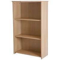 Basix Medium Bookcase - Oak