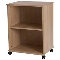 Retro Low Bookcase - Oak