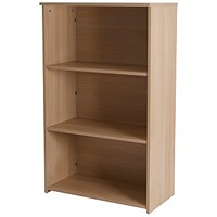 Retro Medium Bookcase - Oak