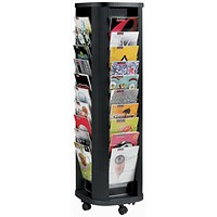 Fast Paper Mobile Carousel, 40 Pockets, Black