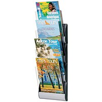 Fast Paper Maxi Wall Display, 4 x A4 Pockets, Silver