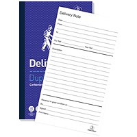 Challenge Carbonless Delivery Note Duplicate Book, 100 Sets, 210x130mm, Pack of 5