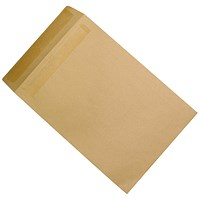 5 Star Plain C4 Envelopes, Manilla, Press Seal, 90gsm, Pack of 250