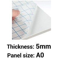 Self-adhesive Foamboard, A0, White, 5mm Thick, Box of 10