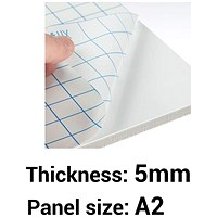 Self-adhesive Foamboard / A2 / White / 5mm Thick / Box of 20