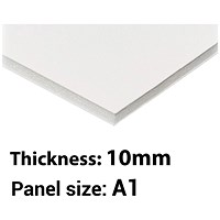 Foamboard, A1, White, 10mm Thick, Box of 5