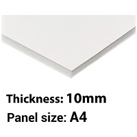Foamboard, A4, White, 10mm Thick, Box of 10