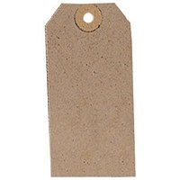 Unstrung Tags 3A 96 x 48mm Buff Single (Pack of 1000) TG8023