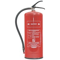 Fire Extinguisher Water 9 Litre (Certified to BS EN3, combats Class A fires)