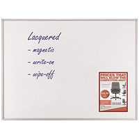 Franken ECO Magnetic Whiteboard, Lacquered Steel Surface, W600xH450mm