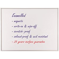 Franken ECO Magnetic Whiteboard, Enamelled Surface, W600xH450mm