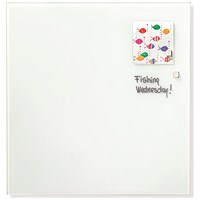 Franken Magnetic Glass Board, W1200xH1200mm, White