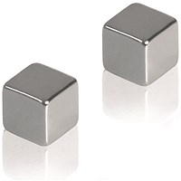 Franken Square Magnets, 10mm, Pack of 2