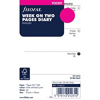 Filofax Refill Pocket Week To View 2020 (For Filofax Pocket Organisers)