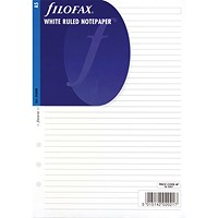 Filofax Ruled White Paper - A5