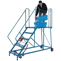 Fort Easy Slope Platform Steps Powder Coated 5 Tread MS9105M