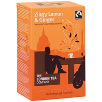 London Tea Zingy Lemon and Ginger Tea (Pack of 20)