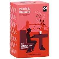 London Tea Peach and Rhubarb Tea (Pack of 20)