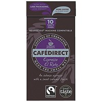 Cafe Direct Nespresso Compatible Coffee Pods, El Reto, Pack of 100