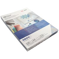 GBC PVC Report Covers, 200 micron, Clear, A4, Pack of 100