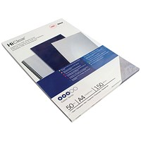 GBC HiClear A4 Binding Cover 150 Micron Clear - Pack of 50