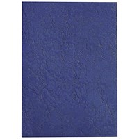 GBC Antelope Binding Covers, 250gsm, A4, Leathergrain, Royal Blue, Pack of 100