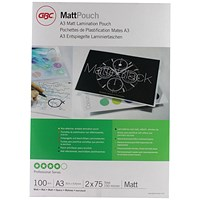 GBC A3 Laminating Pouch 150 Micron Matte (Pack of 100)