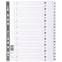Guildhall File Dividers, A-Z, Mylar Tabs, A4, White